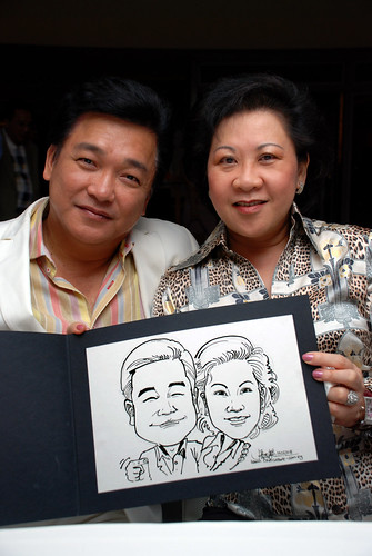 Caricature Christopher Tan 60th birtyhday party 5