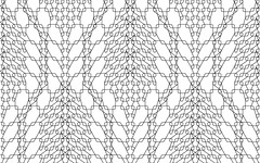 Trellis-Framed Leaf Pattern... no border