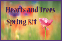 Hearts and Trees Spring Button