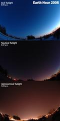 Earth Hour 2008 (Computer Science Geek) Tags: ontario twilight triptych photomosaic fisheye peterborough exp 105mmf28gfisheye armourhill twtmeblogged earthhour utata:project=nocturnal2