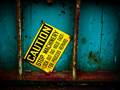 untitled (Steven Schnoor) Tags: color colors sign metal warning rust colorful decay © rusty safety caution steven scrap boneyard rustyandcrusty junked safetysign schnoor ©stevenschnoor stevenschnoor feltlikestayingclosetohome