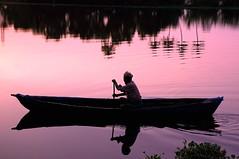 Sunset boatman on the Backwaters of Kerala (One more shot Rog) Tags: sunset sky night evening boat fisherman sundown sunsets canoe canoes backwaters backwater rogersargent