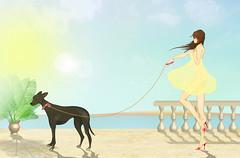 sunny side (Lay Sedlakova) Tags: summer greyhound girl side sunny palm hollyday terasse