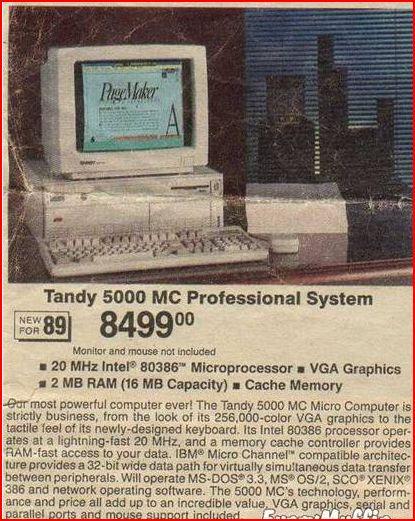 89 Tandy computer