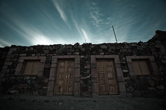 Behind those doors (Luis Montemayor) Tags: sky clouds mexico town doors pueblo cielo nubes realdecatorce puertas dflickr dflickr180307