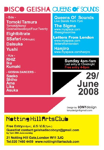 Disco Geisha x Queens Of Sounds Party on 29 June