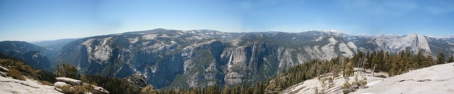 El Capitan to Half Dome Pano at Sentinal Dome