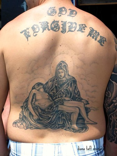angel tattoo · P6080330 · Full back tattoo God Forgive Me