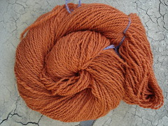 Orange Merino finished yarn