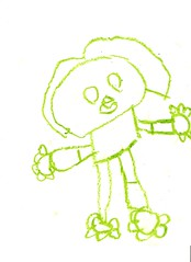 Big Monkey Helpy Chalk Coloring Pages By Caroline