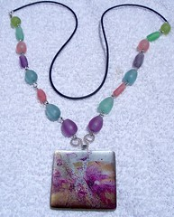 resin bead and painted square necklace.jpg