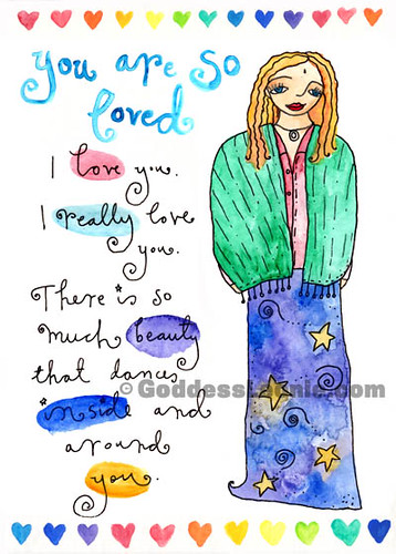 You are so loved: Art print