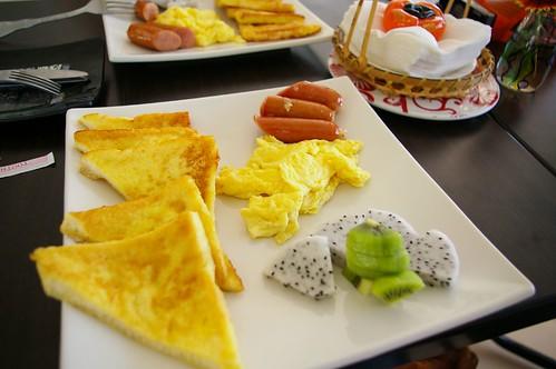 第二天的早餐依舊豐盛又好吃