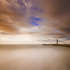 Whitby Harbour, North Yorkshire (Corica) Tags: longexposure greatbritain sea england beach clouds landscape waves wind britain yorkshire northsea whitby gb northyorkshire sigma1020mm whitbyharbour corica canon400d