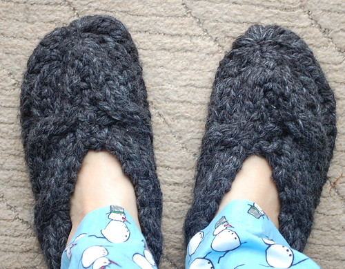 I made slippers!
