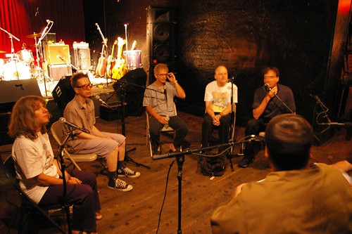The Feelies during the radio interview - June 30th, 2008