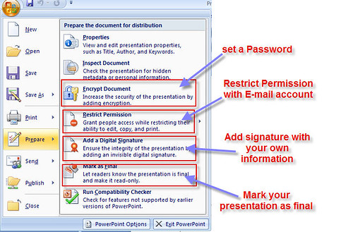 PowerPoint security in 2007