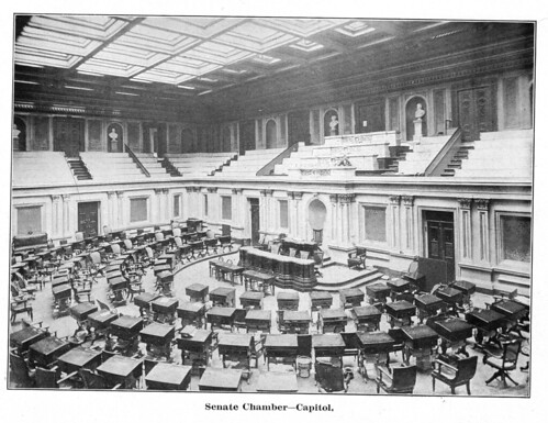 a vintage photograph of the Senate chamber