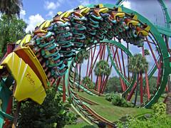 corkscrew! (kevkev44) Tags: tampa ride upsidedown action rollercoaster coaster corkscrew themepark buschgardens buschgardenstampa ruleofthirds tampaflorida kumba popularphotography buschgardensafrica kumbarollercoaster bolligerandmallibard