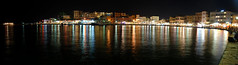Chania (the harbour by night) (MarcelGermain) Tags: travel sea panorama water night port geotagged island greek lights harbor nikon europe mediterranean european harbour aegean creta greece crete hania seafront xania chania grcia   d80 mosqueofthejanissaries canea chanea marcelgermain hhania