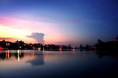 (noprayer4dying) Tags: city light shadow sky lake color reflection building water night canon 350d exposure dhaka bangladesh gulshan aplusphoto