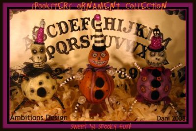 Sweet 'n Spooky Spooksters Ornament Collection for PFATT August 08 (400pix)