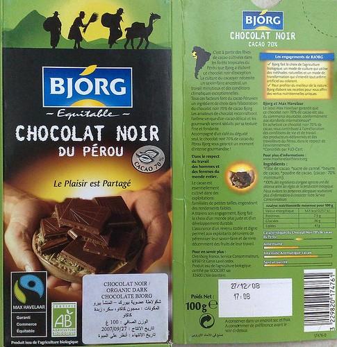 Bjorg Organic Chocolate