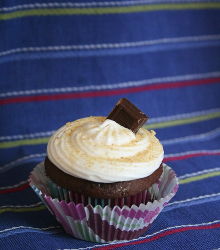 Tam's s'mores cupcakes (well, just one of them anyway)