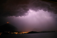 thunderstorm I (alfons069) Tags: light red sky mountain rain night see fear thunderstorm