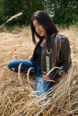 Turtle Jacket. Chocolate Brown (Great Bear Fashions) Tags: woman fashion native designer western biker firstnation designerclothing leatherjacket turtleisland nativewoman