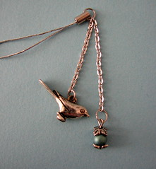 Antique Dove Cell Charm (by glamourfae)
