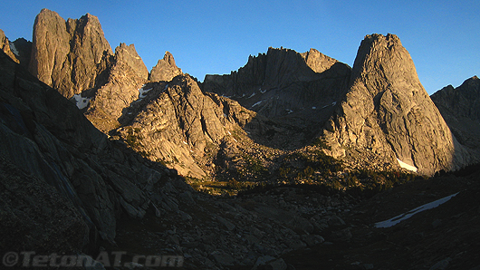 Cirque of the Towers in Morning light