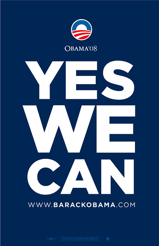"""Obama """"Yes We Can!"""" posters! by beastandbean."""