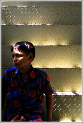 The Stairway I can't choose [..Dhaka, Bangladesh..] (Catch the dream) Tags: blue light shadow red portrait sunlight look stairs children stair glow child dress expression bongo steps polka stairway polkadots gradient dhaka melancholy dots bengal bangladesh bangla bengali bangladeshi bangali aplusphoto shadarghat gettyimagesbangladeshq2