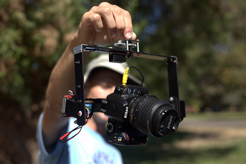 Photo of Scott Haefner showing his Nikon KAP rig.