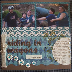 Riding In Wagons...With Kids (melonscraps) Tags: lo ribbon mm prima skittles bazzill 7gypsies kco luxedesigns lacecs