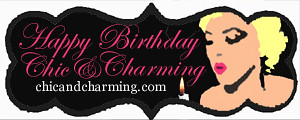 Chic and Charming Birthday Badge