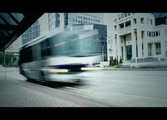 Missing the Bus (Scott Coulter) Tags: atlanta urban canon georgia outdoor s2is cinematic buckhead lpncprojectaug