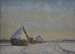 Meules  Chamant en Hiver-1933 (Chamant) Tags: life france art nature painting belgium belgique aquarelle fineart paintings brugge peinture canvas master morte painter oil impressionism bruges guerre georges impressionist emile bray oilpainting ypres picardie naturemorte peintre senlis rully oise impressionnisme postimpressionism impressionniste grandeguerre peinturelhuile jemappes chamant peintrebelge postimpressionniste lebacq georgesemilelebacq georgesmile belgianpainter georgeslebacq