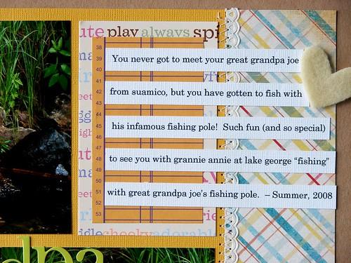 Great Grandpa Joe's Fishing Pole (close-up)