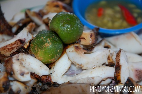 Grilled Squid - Luz Kinilaw Place Davao City