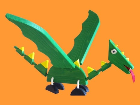 Flying Dragon Wooden Mobile Toy