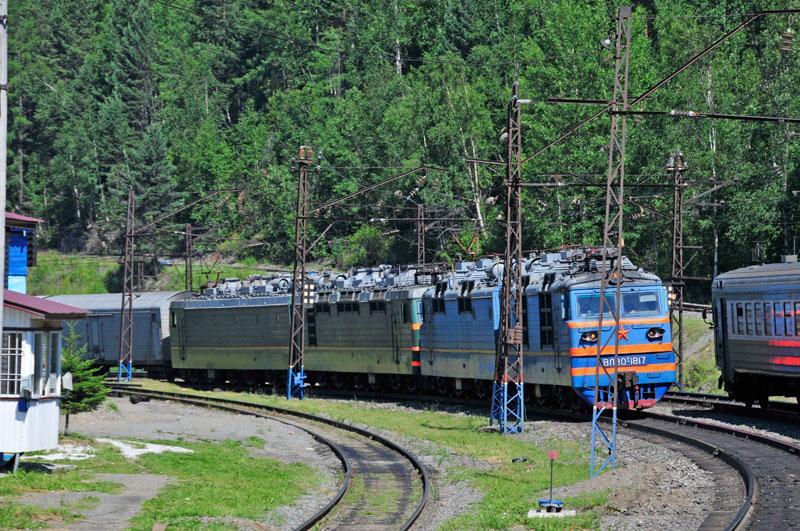 Cargo train on Transsib