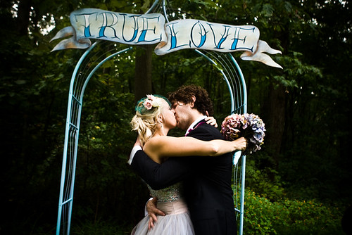 True arch love at Abigail and Michael 39s wedding Photo by Shea Roggio