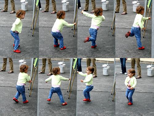 The Dance - young girl dancing mosiac