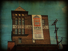 otto milk co. (alphabet soup studio / lenore locken) Tags: pittsburgh ©lenorelocken locken eatwritecreate alphabetsoupstudio nostalgia pennsylvania architecture names text signs signage up urban photoshop numbers sonydsch9 food bricks ghostsigns brown ©lenorelocken signgeeks