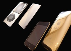 Goldstriker 24karat and 18karat iPods