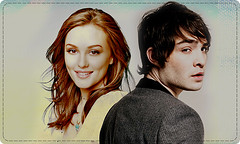 Blair and Chuck (MaybeSomedayLove) Tags: cute girl ed blair chuck leighton gossip meester westwick