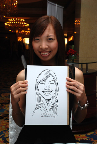 Caricature live sketching for Great Eastern Life D&D 2008 9
