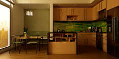 kitchen (Ngoc T Phan) Tags: cinema architecture photoshop 3d interior render cinema4d c4d 4d vray r11